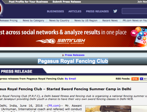 pr.com about Pegasus Royal Fencing Club